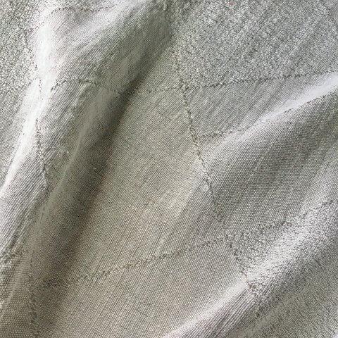 Anichini Yutes Collection Murs Diamond Pattern Linen Fabric In 01 Beige