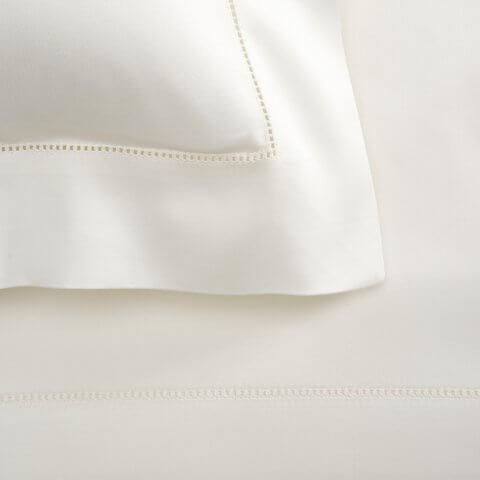 Anichini Raso Sateen Hemstitched Sheets in Ivory