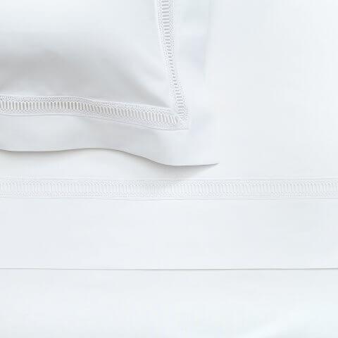 Anichini Avila Percale Sheet Sets in White