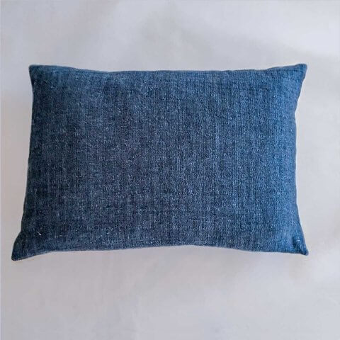 Anichini Calvin Textured Linen Denim Decorative Pillows, Black/Indigo