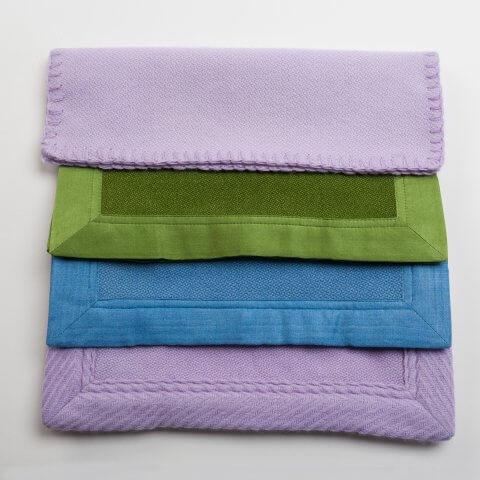Anichini Tenzin Hand Loomed 6-Ply Waffle Weave Blankets