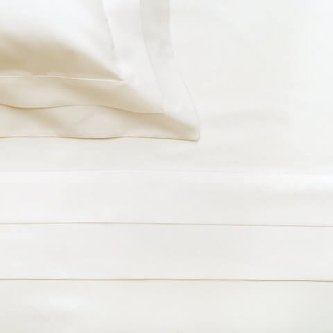 Anichini Catherine Luxury Italian Percale Sheet Sets with a double French flange, in white