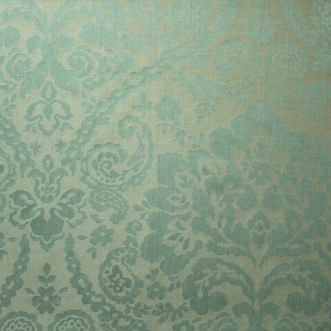 Anichini Lido Floral Paisley Linen Quilts In Khaki Ivory