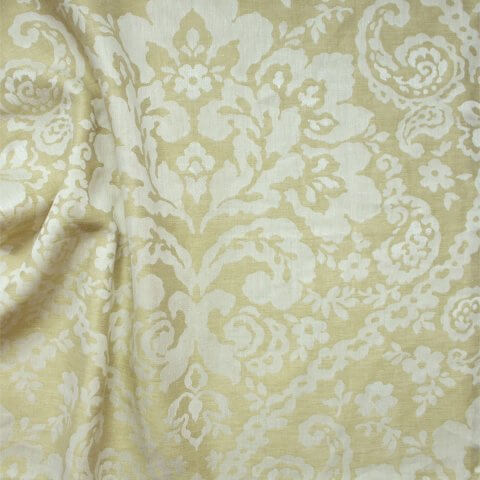 Anichini Lido Linen Jacquard Fabric By The Yard In Pale Gold Ivory