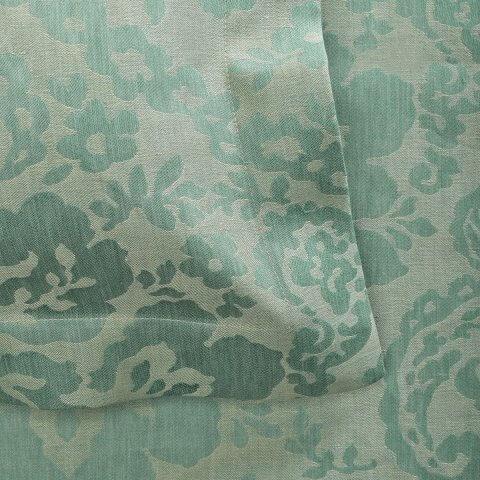 Anichini Lido Italian Linen Jacquard Sheeting in Aqua/Ecru