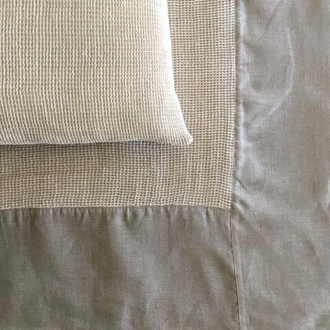 Anichini Linen Waffle Weave Coverlets & Shams In Ivory