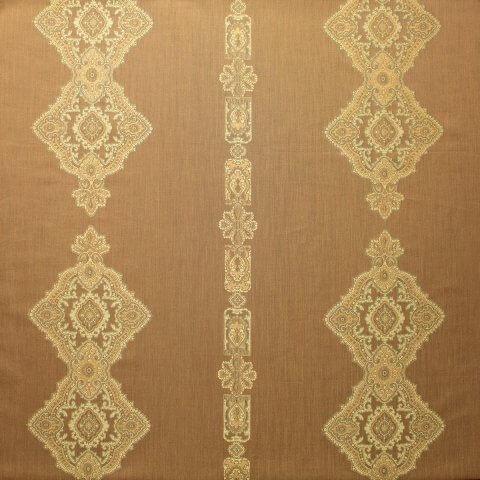 Anichini Persia Jacquard Medallion Fabric By The Yard In Camel
