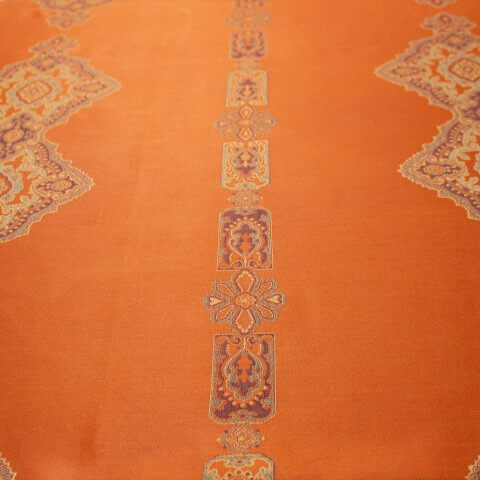 Anichini Persia Jacquard Medallion Fabric By The Yard In Orange
