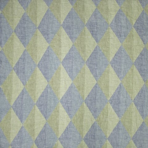 Anichini Puzzle Lightweight Linen Diamond Pattern Quilts In Pink / Green