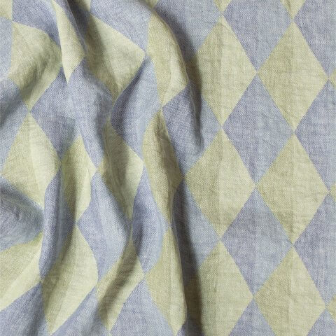 Anichini Puzzle Linen Throws & Bed Runners