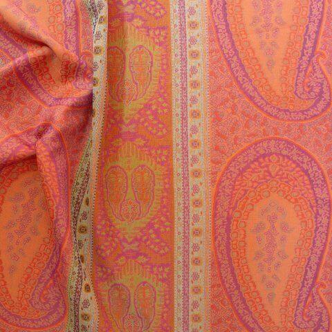 Anichini Taj Paisley Jacquard Pillows In Amethyst Aqua