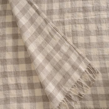 Anichini Hospitality Check Washable Linen Throws