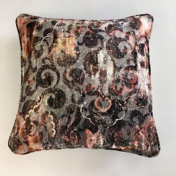Anichini Lagoon Printed Fortunyesque Velvet Pillows