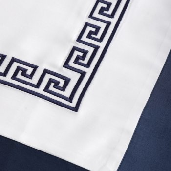 Anichini Hospitality Greek Key Custom Embroidery Sheeting