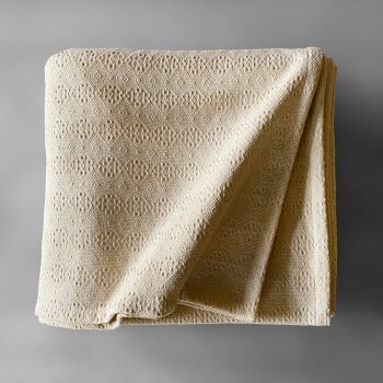 Anichini Italia Portuguese Cotton Blankets In Ivory