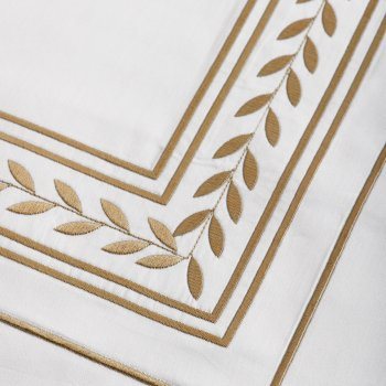 Anichini Hospitality Laurel Custom Embroidery Sheeting