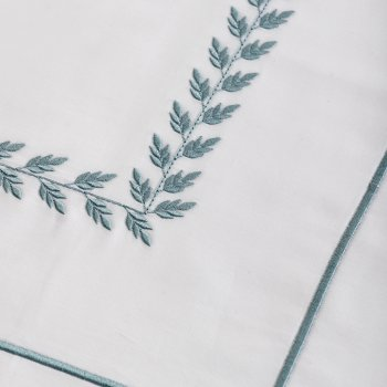 Anichini Hospitality Leaf Custom Embroidery Sheeting