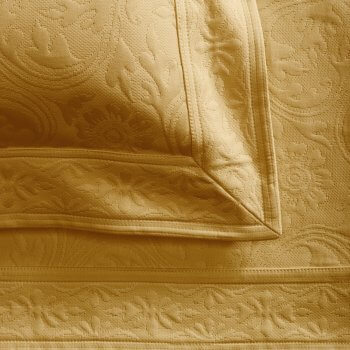 Anichini Nevada Matelassé Coverlets In Camel