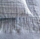 Anichini Linen Plissé Coverlets & Shams In Platinum