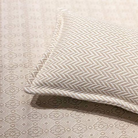 Anichini Chevron Portuguese Cotton Blankets And Shams
