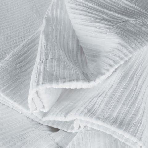 Anichini Bamboo Matelassé Coverlets & Shams in Whtie