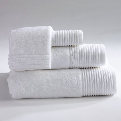 Anichini Hospitality Pleats Custom Terry Bath Towels