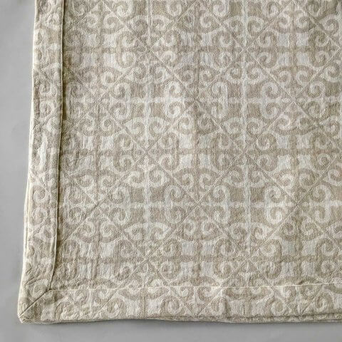 Anichini Tokkat Tile Design Linen Bedding, Coverlets, and Shams