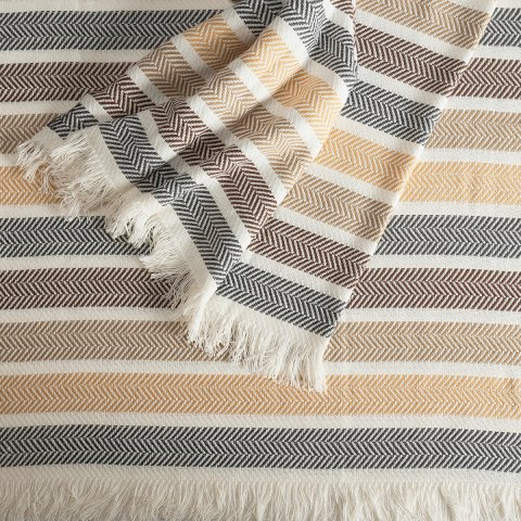 Anichini Hospitality Ocean Washable Cotton Blend Throws