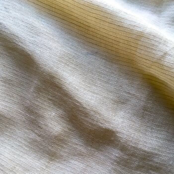 Abril Sheer Pinstripe Linen Fabric In Ivory