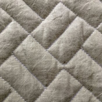 Anichini Yutes Collection Brick Geometric Quilted Linen Fabric
