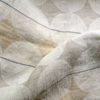 Anichini Yutes Collection Contorno Modern Graphic Linen Fabric