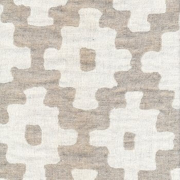 Anichini Yutes Collection Tokkat Cross Design Linen Matelassé Fabric