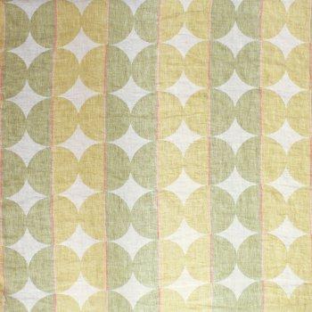 Contorno Modern Graphic Linen Fabric In 05 Olive Green, Right Side | ANICHINI Fabrics