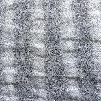Anichini Yutes Collection Lahti Herringbone Stripe Sheer Linen Fabric