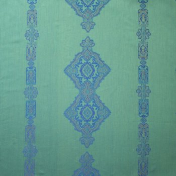 Anichini Persia 2.0 Jacquard Medallion Fabric By The Yard In Jade Green