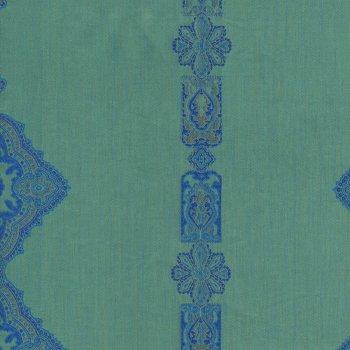 Anichini Persia Jacquard Medallion Fabric By The Yard In Orange