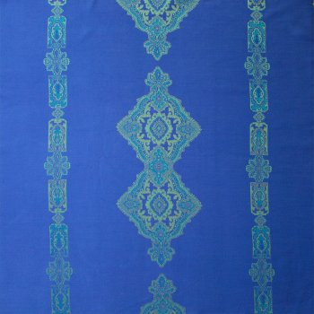 Anichini Persia 2.0 Jacquard Medallion Fabric By The Yard In Marine Blue