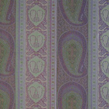Anichini Taj Paisley Jacquard Fabric By The Yard In Amethyst Aqua