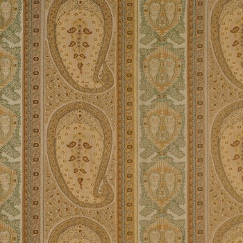 Anichini Taj Paisley Jacquard Fabric By The Yard In Camel