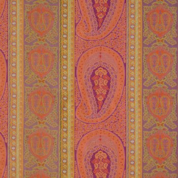 Anichini Taj Paisley Jacquard Fabric By The Yard In Coral Fuchsia
