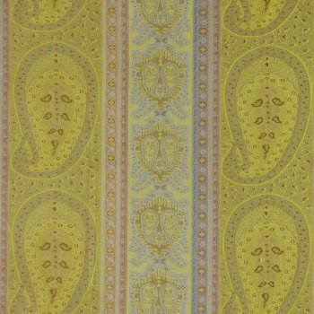 Anichini Taj Paisley Jacquard Fabric By The Yard In Green