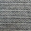 Anichini Yutes Collection Barroco Striped Basket Weave Linen Fabric In Natural/Black