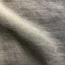 Anichini Yutes Collection Barroco Solid Basket Weave Linen Fabric In Silver