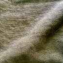 Anichini Yutes Collection Barroco Solid Basket Weave Linen Fabric In Sage