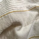 Anichini Yutes Collection Byron Multi Stripe Linen Fabric