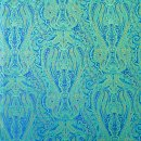 Anichini Kashmir Paisley Italian Jacquard Fabric In Jade Green (Reverse Of Marine Blue)