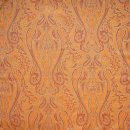 Anichini Kashmir Paisley Italian Jacquard Fabric In Orange Reverse