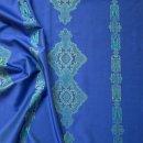 Anichini Persia 2.0 Jacquard Medallion Fabric By The Yard In Marine Blue