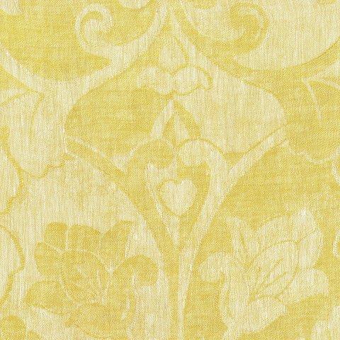 Anichini Calabria Linen Jacquard Fabric By The Yard In Citrine