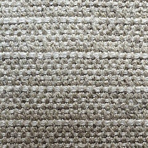 Anichini Yutes Collection Barroco Striped Basket Weave Linen Fabric In Oatmeal